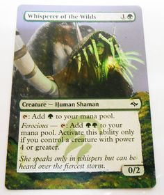MTG Altered Painted Whisperer of the wilds Fate Reforged #WizardsoftheCoast
