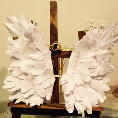Angel wings ... Made of paper and wire - made at home