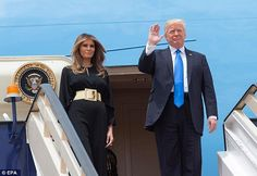 Melania Trump chose not to wear a head scarf when she and President Donald Trump arrived in Saudi Arabia Saturday, despite the religious country's strict dress code for women