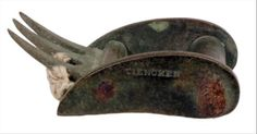 A tourniquet buckle found at Camp Lawton, the Civil War prison camp.