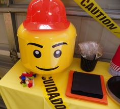 Lego  Brithday Party Drink Food Station decor