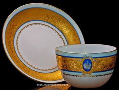Russian Porcelain Antique Cup Saucer Livadia Palace - Antique Jewelry | Vintage Rings | Faberge Eggs