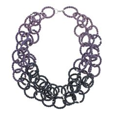 """""""Day 14 - I need to make this in another color way! Lilac Ombre' Necklace""""  Agree - maybe in golds/bronzes/coppers?"""