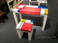 Mondrian desk