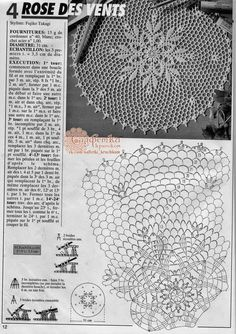 Reminds me of a doily I had Lampe Crochet, Crochet Mat, Crochet Doily Diagram, Vintage Crochet Patterns, Crochet Lace Edging, Freeform Crochet, Thread Crochet, Crochet Designs, Crochet Doilies