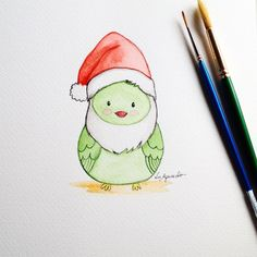 Image result for watercolor christmas cards