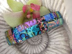 Large  Dichroic Glass Barrette  Hair Barrette  French by ccvalenzo, $32.00