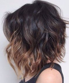 23 Balayage Ombre Hair Color Ideas for Short Hair – 2019 Hair Color Inspirations – Love Casual Style Hair inspiration – Hair Models-Hair Styles Big Short Hair, Short Hair Cuts, Curly Short, Color On Short Hair, Dark Short Hair Styles, Hair Color Ideas For Brunettes Short, Layered Bob Hairstyles, Medium To Short Hairstyles, Ombré Hair