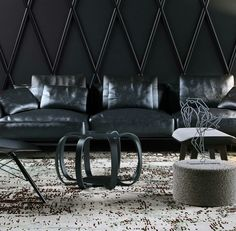 Custom rug for an edgy knockout glamorous room. #rugartinternational #interiordesign #rugs