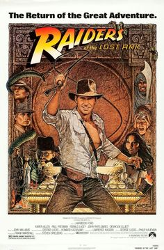 Raiders of the Lost Ark Action & Adventure Movie Posters & Artwork #movieposters #movietwit #MovieBuff #action #adventure #drama #artwork #adventuremovies  #actionmovies