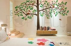 Tree Wall Sticker Kid Wall Decal - Giant Tree wall decal - 064. $185.00, via Etsy.