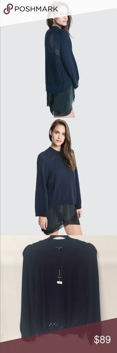 Dolce Vita Reese Navy Sweater Brand new with tags Dolce Vita Sweaters Crew & Scoop Necks