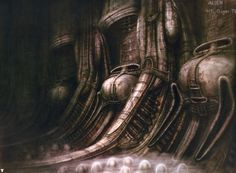 H.R. Giger's original designs for Alien are even more chilling than the film.