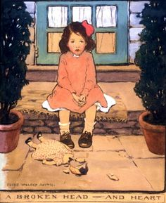 "Jessie Willcox Smith Illustration- ""A Broken Head - And Heart"""