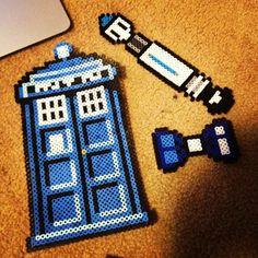 Doctor Who creations perler beads by Chloe Alizabeth