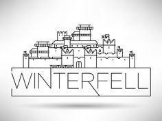 I'm creating new illustration series about GOT Houses. First one is Winterfell!