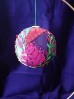 The world's first online magazine for Crazy Quilting - Article Quilted Christmas Ornaments, Fabric Ornaments, Christmas Fabric, Handmade Ornaments, Hanging Ornaments, Felt Ornaments, Christmas Baubles, Christmas Crafts, Christmas Stuff