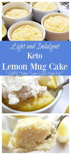 Keto Lemon Lemon Mug Cake Recipe (GAPS & Dairy Free Option) - Health, Home, & Happiness
