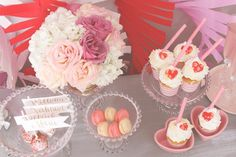 Pink + Red Love Themed Bridal Shower via Kara's Party Ideas KarasPartyIdeas.com #bridalshowerideas #loveparty #redandpinkparty #vday #valentinesparty (17)