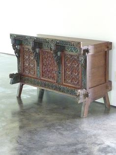 Indian Chest // Jain Console by StoneHouseArtifacts on Etsy