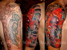 koi tattoo cover - Buscar con Google