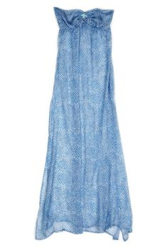 Silk Maxi Dress. So pretty and airy. would be a great Bathings suit coverup..!