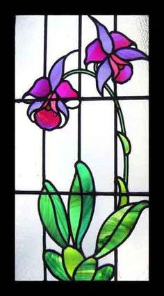 floral panel - fuchsia