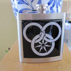 Wheel Of Time Fantasy Liquor Hip Flask. $32.00, via Etsy.