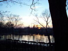 Jesienny zachód słońca  w Rosnowku pod Poznaniem