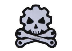 MM Death Mechanic Velcro Patch (Black/Wht) 6503