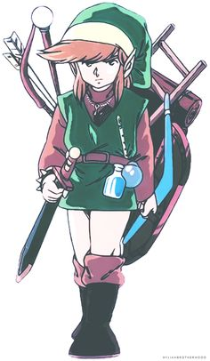 Link. These were the pictures of Link that inspired so much of my imagination as a child.