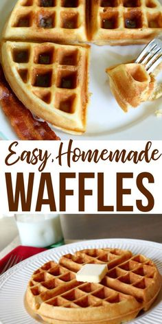 The Perfect Homemade Waffle Recipe! The Perfect Homemade Waffle Recipe! Whip up this easy waffle recipe for your next weekend brunch! Breakfast And Brunch, Breakfast Dishes, Breakfast Recipes, Breakfast Waffles, Pancakes And Waffles, Homemade Breakfast, Best Waffle Recipe, Waffle Maker Recipes, Simple Waffle Recipe