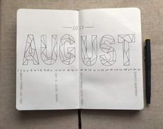 Monthly spread and week one for August! I kept it super simple with just a title and dates lining ...