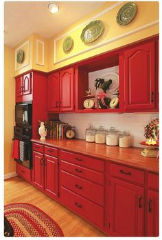 Red Country Kitchen Decor