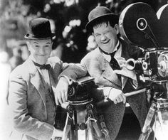 Laurel and Hardy.  #vintage
