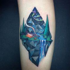 Landscape Tattoo Done by Skye Kellerman, Arcola Creek Tattoo's Madison Ohio