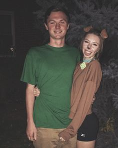 Keegan and I were Scooby and Shaggy for Halloween and got compliments all night! Had so much fun making this costume! Last minute Halloween costume, DIY costume, couples costume, costume ideas, Halloween ideas #diy_costume_for_couples