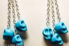 HM; Earrings - Skulls Silver Dangle. Starting at $5 on Tophatter.com!