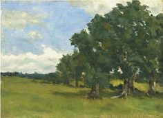 Roderic O'Conor (Irish, 1860-1940), Sunny Day in June, exhibited 1885. Oil on panel, 24.7 x 33 cm.