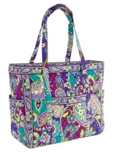 """Get Carried Away Tote"" by Vera Bradley, in Heather -- OBSESSED with this pattern! (Can you say, new teacher bag?)"