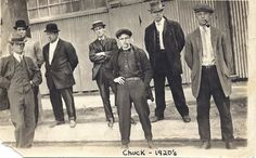 Charles H. Andrews with Factory Workers, CA, 1920s