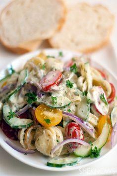 Easy creamy ranch pasta salad