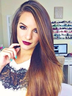 Casey Holmes- Love her, and this lip color is amazeballs