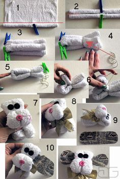 8 tutorials for giving away towels – Towel Ideas 2020 Homemade Gifts, Diy Gifts, Crafts To Make, Crafts For Kids, Towel Origami, Towel Animals, How To Fold Towels, Towel Cakes, Baby Washcloth