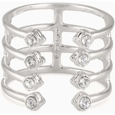 Stella & Dot Gemini Ring ($29) ❤ liked on Polyvore featuring jewelry, rings, sparkle jewelry, polish jewelry, adjustable rings, stella dot jewelry and clear crystal ring