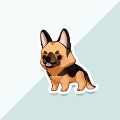 Thousand Skies by thousandskies Preppy Stickers, Cute Stickers, Cute Puppies, Cute Dogs, Chibi Dog, Cute Dog Drawing, Dog Wallpaper, Funny Animal Memes, Cartoon Dog