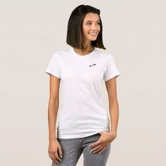 Alya Jersey fit Ted (White) T-Shirt - elegant gifts gift ideas custom presents