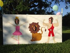 Circus cut outs for circus party
