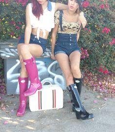 Females who wear Plastic Boots, Wellies Rain Boots, Denim Crafts, Wellington Boot, Nice Legs, Rain Wear, Festival Fashion, Hunter Boots, Rubber Rain Boots