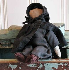 Carole's Country Antiques Collectibles Primitives FS1221 Early Handmade Amish Doll from Lancaster County, Pennsylvania